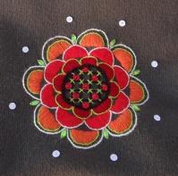 Detail - embroidered handbag