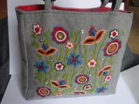 Handbag with Nordic motives